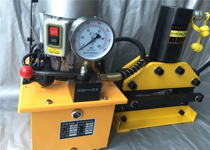 Portable Hydraulic Copper Cutting Machine Manual Operate With 750W Electric Pump